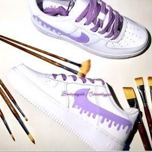 Purple drip CUSTOM Air Force 1 💜
